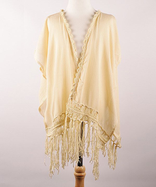 Look at this Cream Fringe Cardigan - Infant, Toddler & Girls on #zulily today!