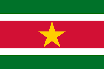 This is the flag of Suriname.Suriname is a country.