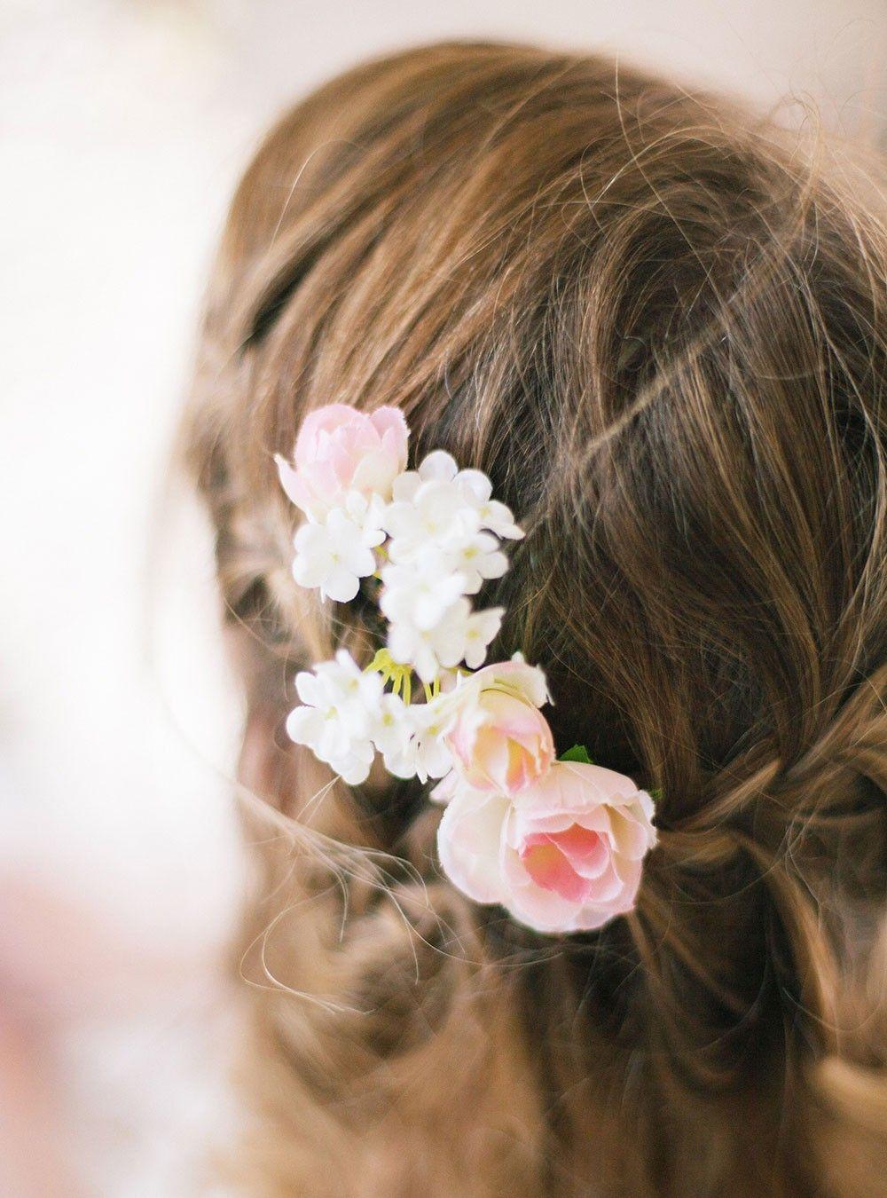 Peigne Cheveux Fleurs Kate Ivoire English Garden Barettes