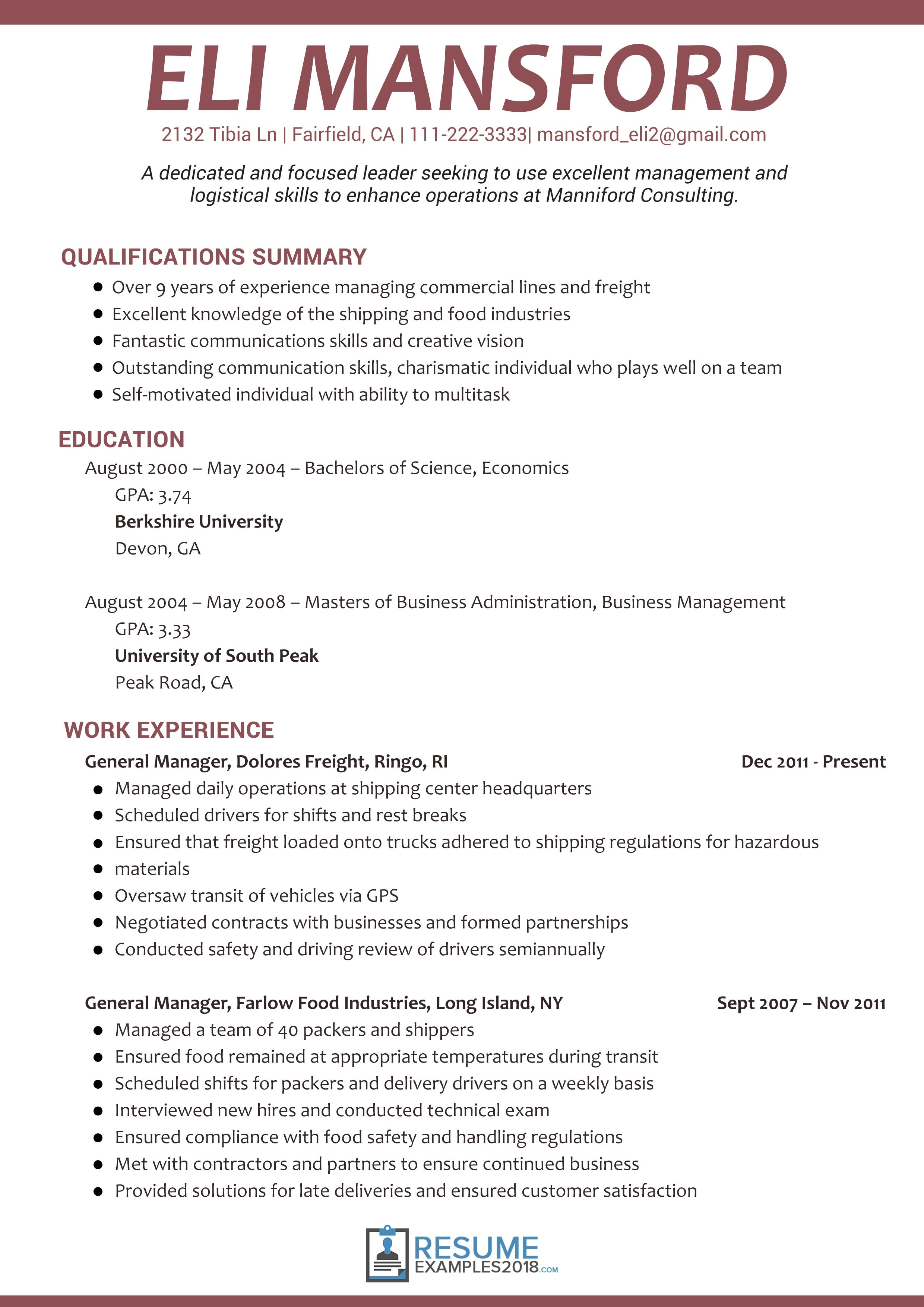 Resume Examples 2018 Skills examples resume
