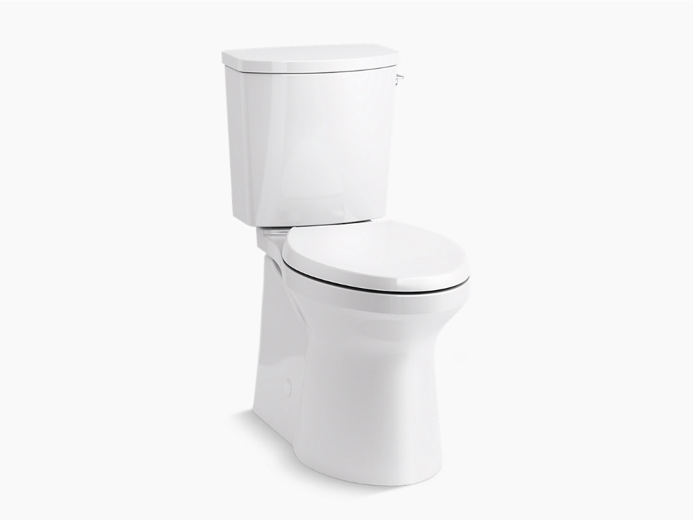 Irvine Comfort Height Two Piece Elongated 1 28 Gpf Chair Height Toilet With Right Hand Trip Lever In 2020 Toilet Kohler Bathroom Design