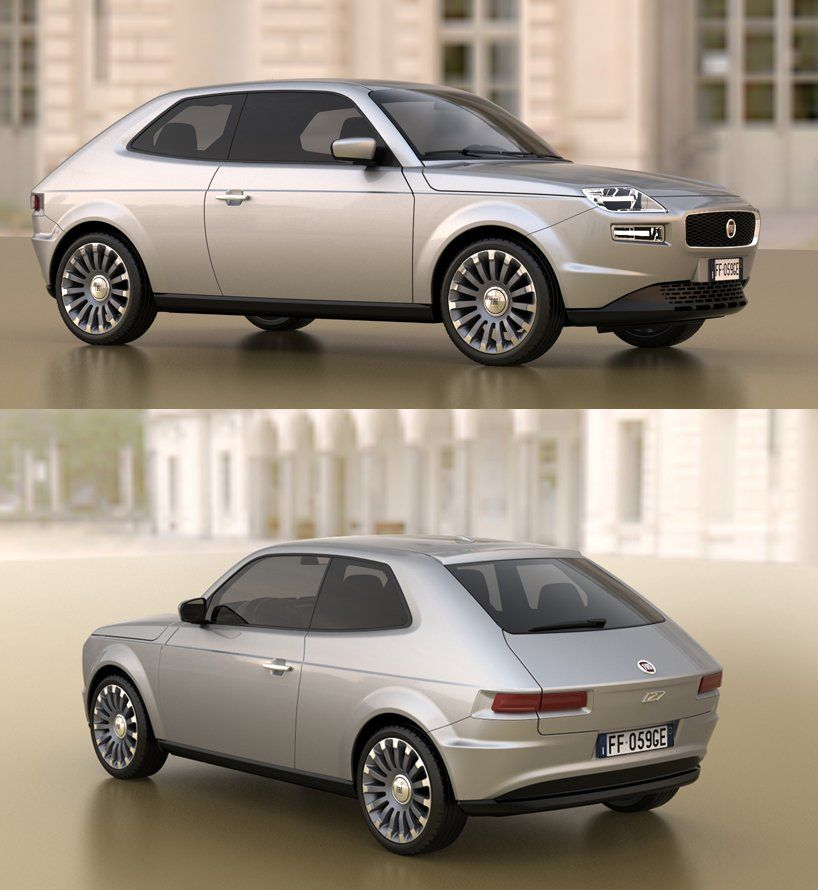 Fiat 127 Concept Concept Cars Futuristic Cars Fiat