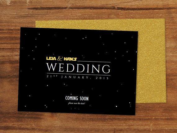 a long time ago, in a galaxy far, far away the saga continues, Wedding invitations