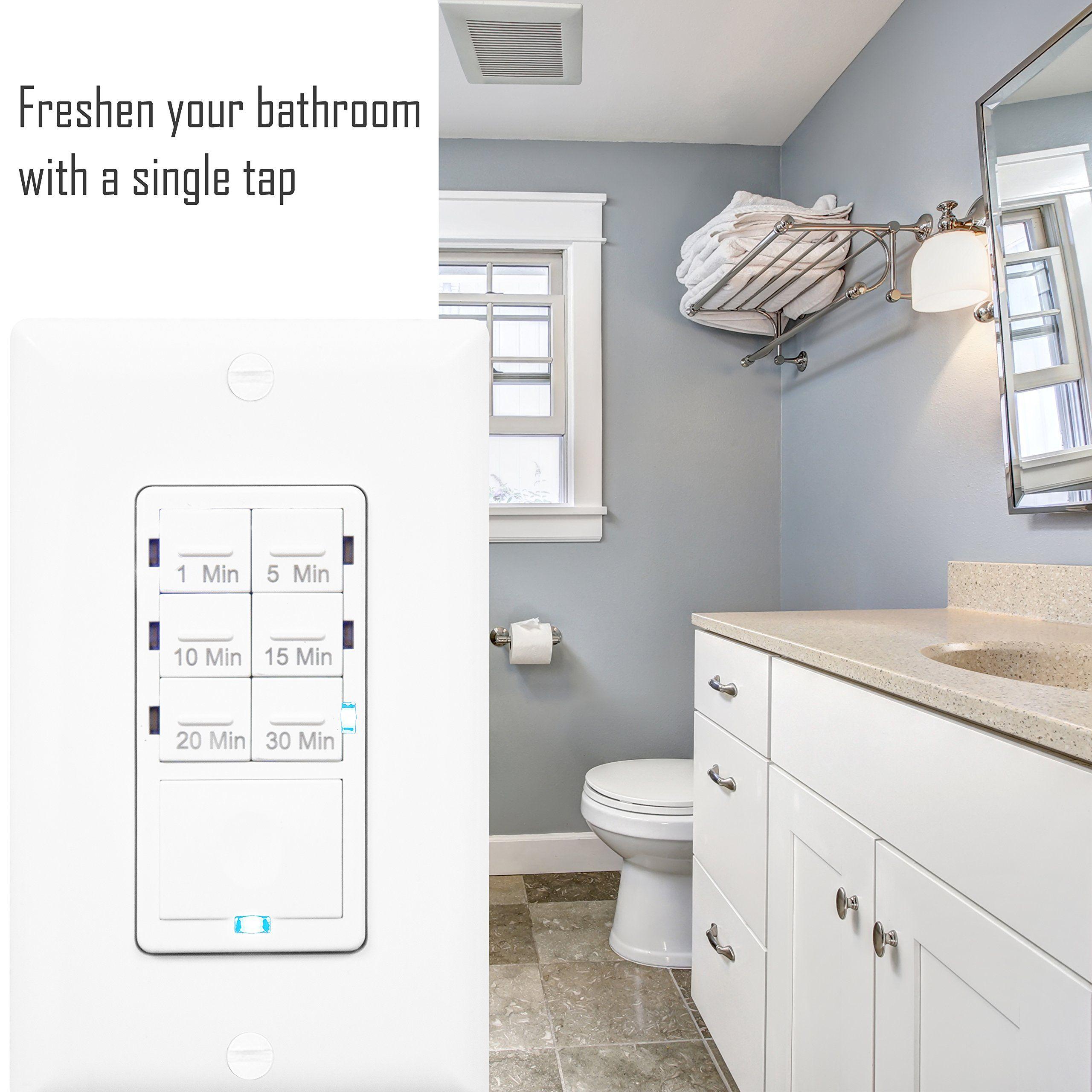 Enerlites Het06aw5pcs Bathroom Timer Switch By Inwall Countdown Timer Switch Fan Switch Timer1510152030 Bathroom Fan Bathroom Exhaust Fan Cover Whole House Fan