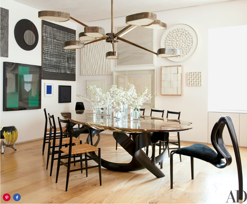 Clarissa And Edgar Bronfman In Architectural Digest Dining Room