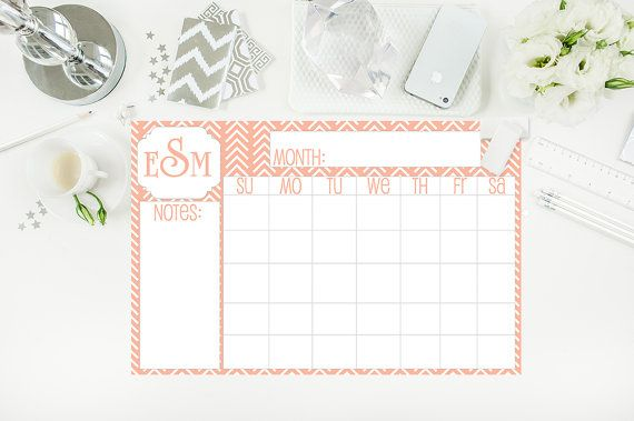 Large Desk Calendar Monogrammed Desk Pad Tribal By Paperkstudios Monogram Desk Desk Calendars Large Desk Calendar