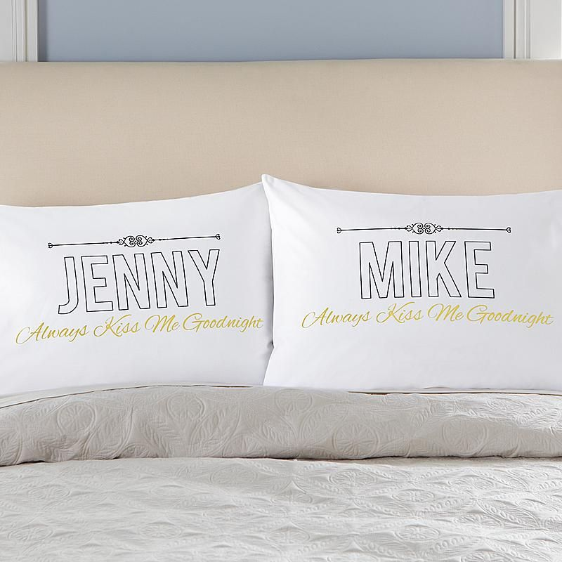 Our fun pillowcases serve as a gentle reminder to share a smooch before drifting off. & Our fun pillowcases serve as a gentle reminder to share a smooch ... pillowsntoast.com