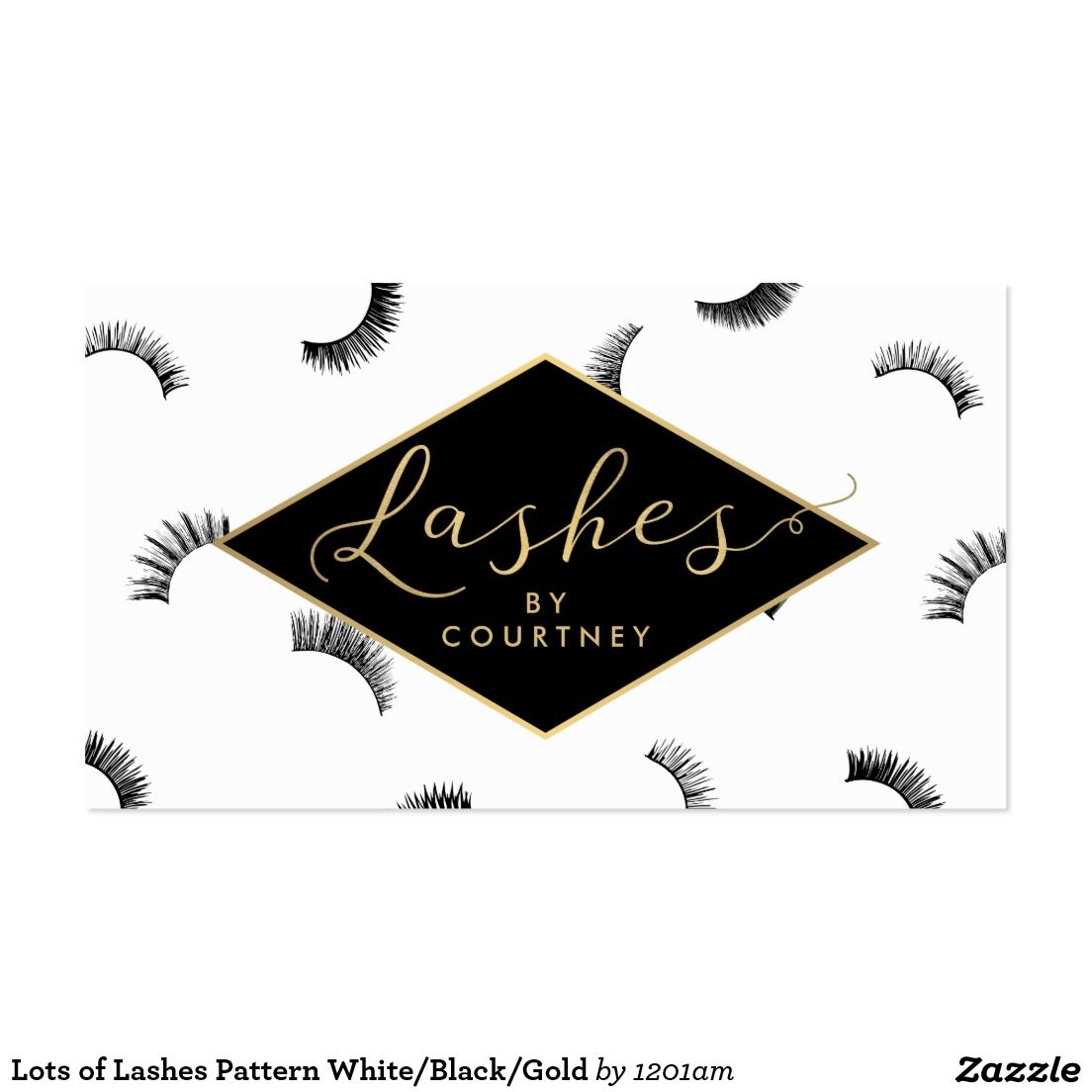 Lots of lashes pattern lash salon whiteblackgold business card lots of lashes pattern business card for lash salons double sided design instant magicingreecefo Image collections
