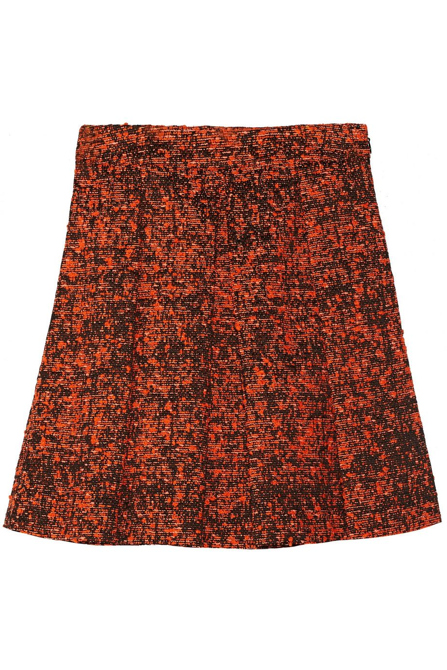 PROENZA SCHOULER Pleated Bouclé Skirt. #proenzaschouler #cloth #skirt