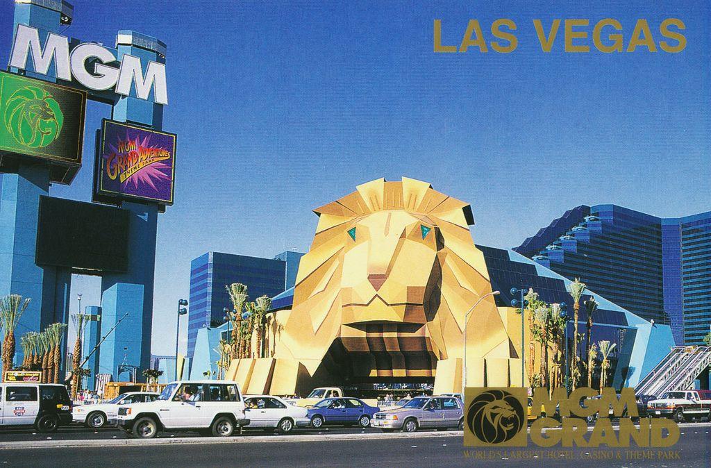 Las Vegas 94 >> Postcard Mgm Grand 1994 Mgm Grand In 2019 Vegas Las
