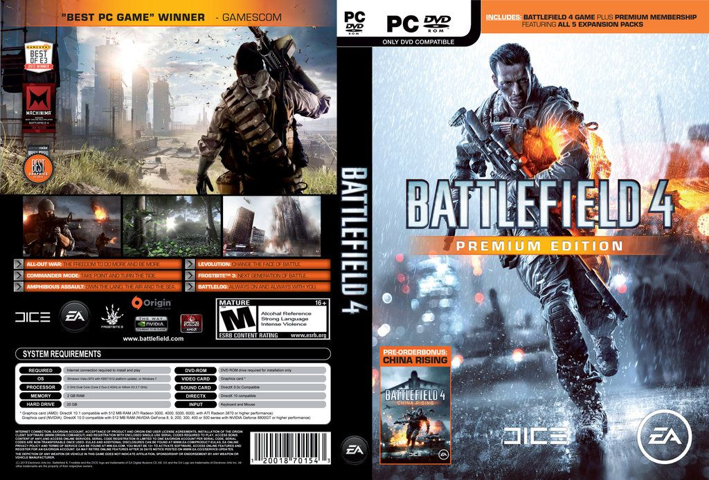 the first game that I bought for my PC was Battlefield 4  My