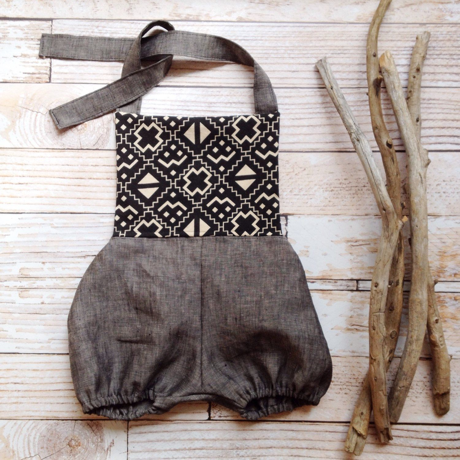 Boho Baby clothes one year old birthday girl outfit boho baby romper