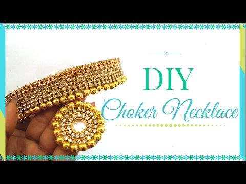 Diy How To Make Designers Wear Bridal Choker Paper Necklace