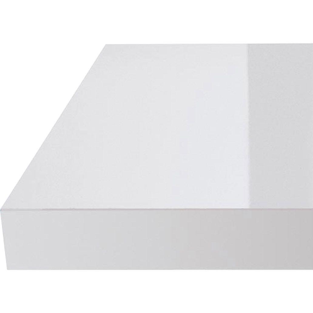 Plan de travail stratifié blanc brillant, 315 x 65 cm. Ep. 58 mm ...