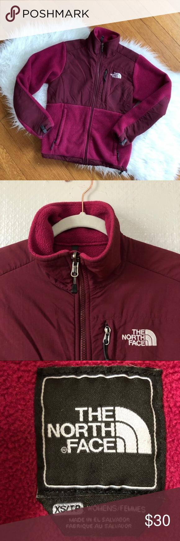 North Face Raspberry Denali Jacket Xs Jackets The North Face North Face Jacket [ 1740 x 580 Pixel ]