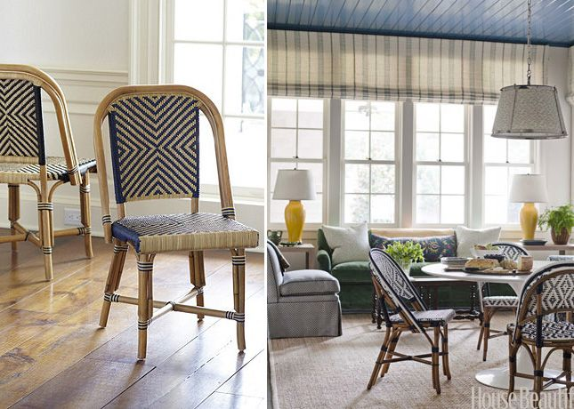 The bistro chair (this one, left, by Ballard Designs) is another ...