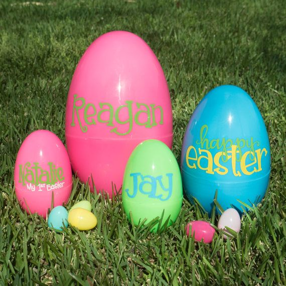Jumbo Personalized Plastic Easter Egg Large Custom By SolanaGifts