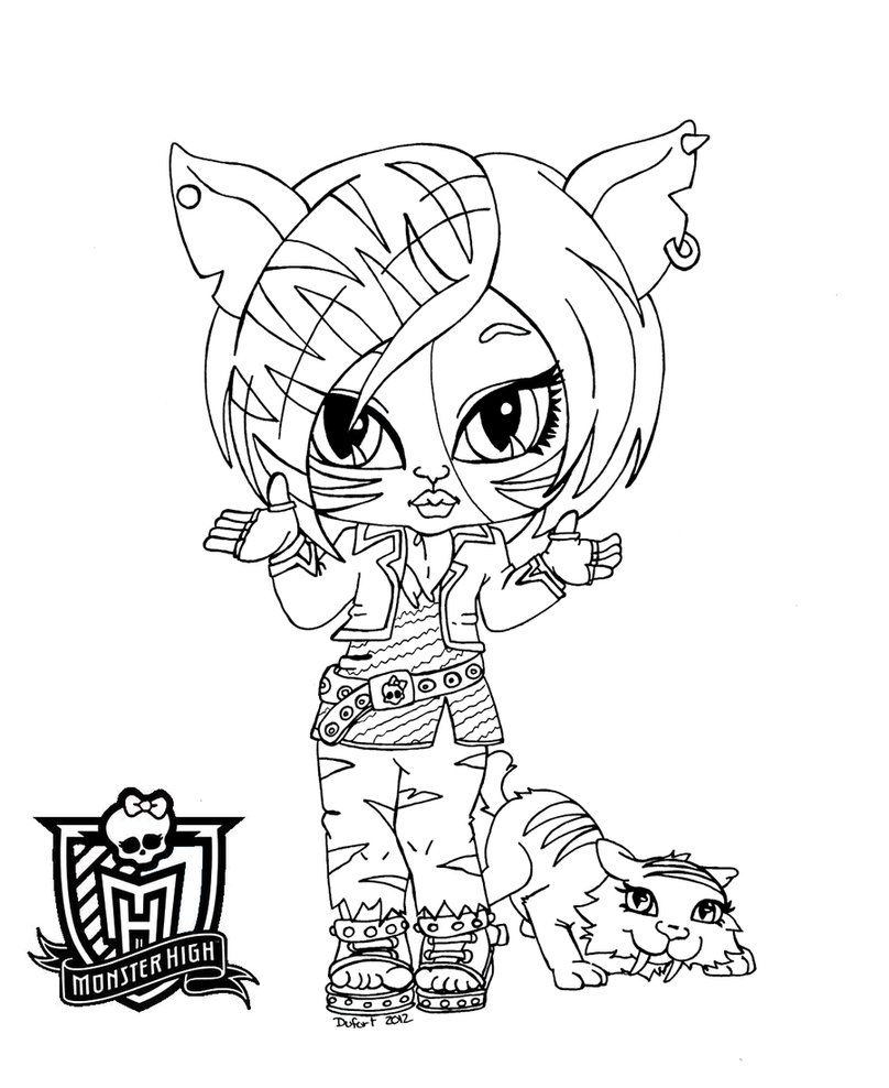 Baby torelai stripe by jadedragonne printable art coloring pages pinterest coloriage - Dessin monster ...