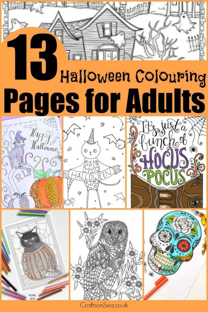 Free Halloween Colouring Pages for Adults Free