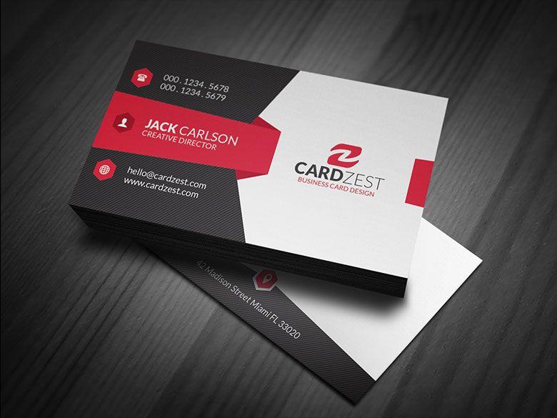 Download Http Cardzest Com Modern Sleek Corporate Business Card Template Modern Free Business Card Templates Unique Business Cards Business Card Template