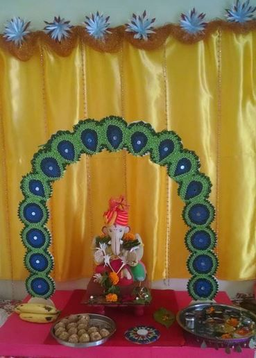 Ganpati decoration ideas altar decorations diwali festival ganapati also hemali shah on pinterest rh