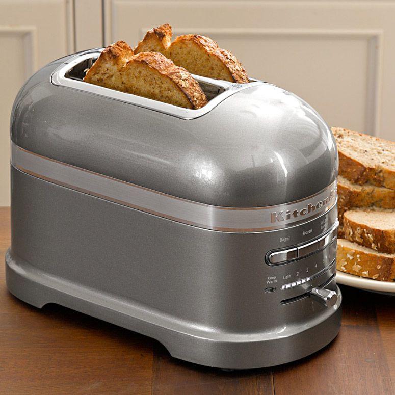 2er Toaster Artisan Medallion Silber Kitchen Aid Toaster