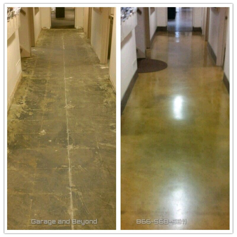 4 Stage Diamond Grind Stain And Seal With Epoxy And High Traffic Polyurethane For Harter Equipment Nj Stain Concrete Flooring