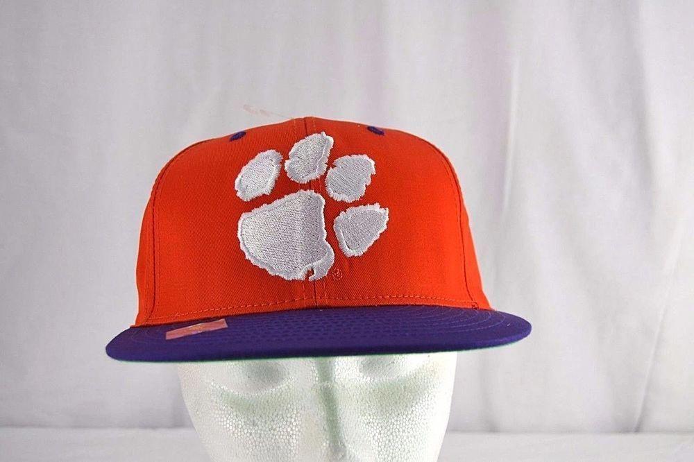 974bb0bde52 Clemson Tigers White Paw Print Orange Purple Baseball Hat Cap Snapback   Eclipse  BaseballCap  clemsonbaseball