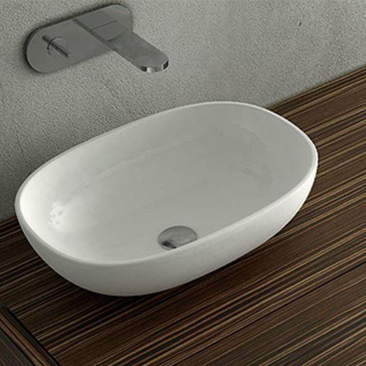 Zeige Details für Ni - Milk Keramik Badezimmer Aufsatzwaschbecken ...