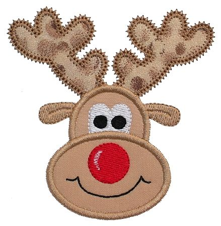 Free Applique Templates Gg Designs Embroidery Reindeer