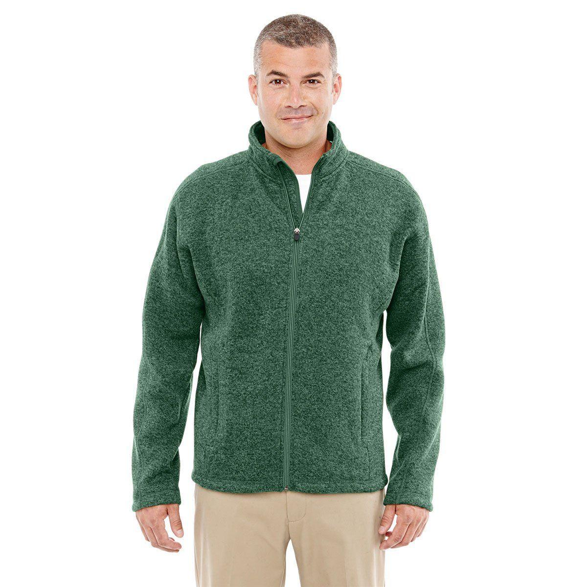 Devon u jones menus forest heather bristol fullzip sweater fleece