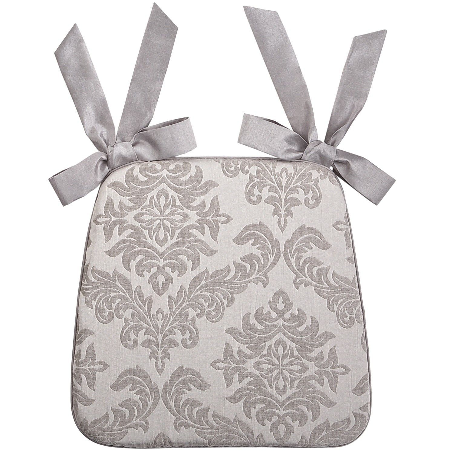 Damask Dining Cushion Silver Pier 1 Imports Kitchen Chair Cushions Dining Chair Cushions Chair Cushions