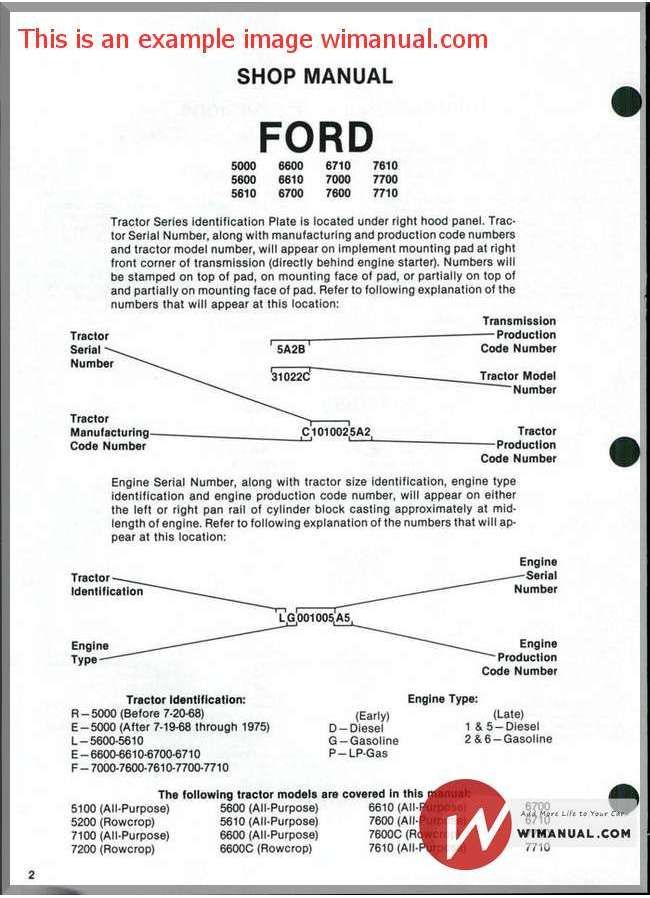 Ford 7610 Wiring Diagram