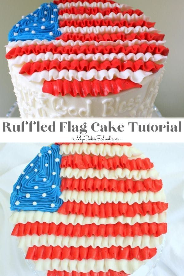 Happy 4th of July!  Ruffled Flag Cake- A Blog Tutorial