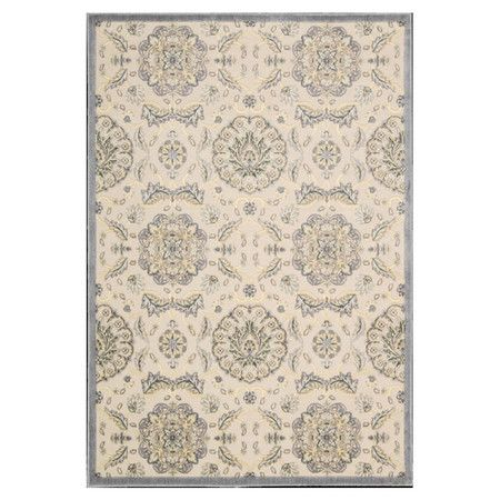Anchor your living room seating group or define space in the den with this artfully woven rug, featuring a botanical-inspired medallion motif for timeless ap...