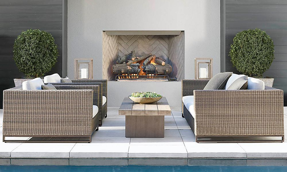 Rooms Restoration Hardware Patio Furnishings Grey Outdoor Furniture Outdoor Remodel