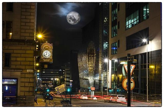 月, 都市の景観, 市, 泊, 都市, アーキテクチャ, 空, スカイライン, 建物, 町, ダウンタウン