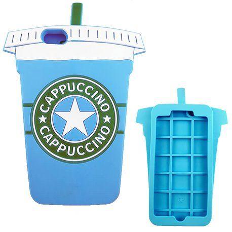 bb8642473f6 Funda 3D con forma de Vaso de cafe Azul para tu iphone 6 plus. Dale un  toque divertido a tu smartphone.