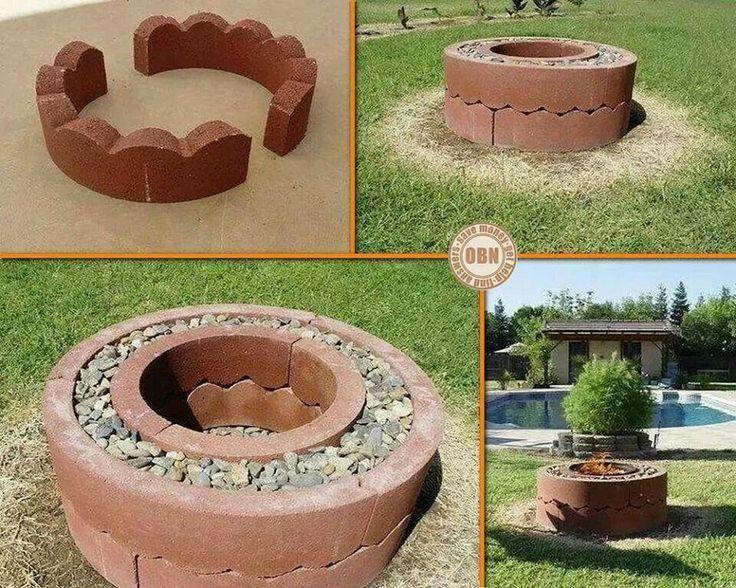 Pinterest Outdoor Ideas Double Fire Pit Home Backyard Diy