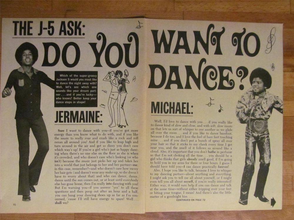Michael Jackson, The Jackson Five, Two Page Vintage Clipping