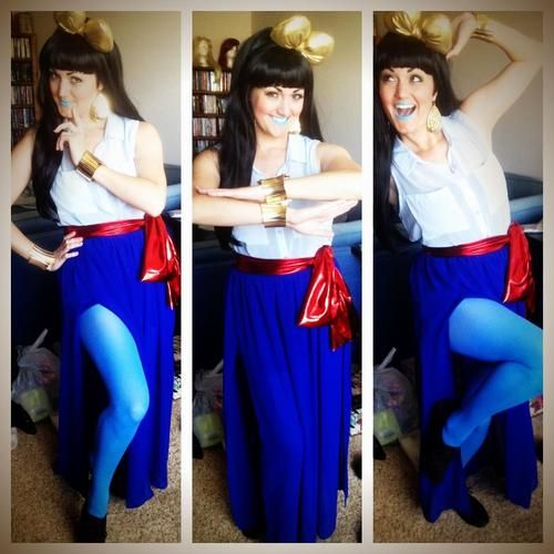 I assisted a birthday party for Aladdin and Jasmine yesterday! I went as u201c Genie Raeu201d. )  sc 1 st  Pinterest & I assisted a birthday party for Aladdin and Jasmine yesterday! I ...