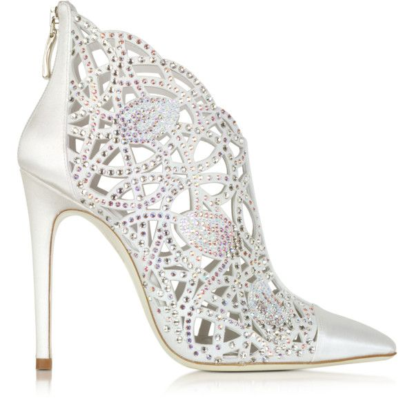 LORIBLU Designer Shoes, Satin Jewel Bootie