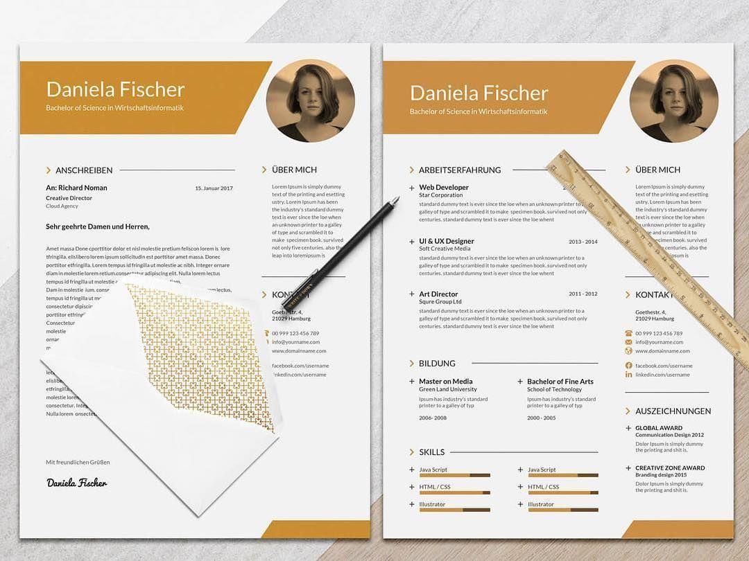 Bewerbungsvorlage - Mrs. Fischer #bewerben #karriere #kreativ ...
