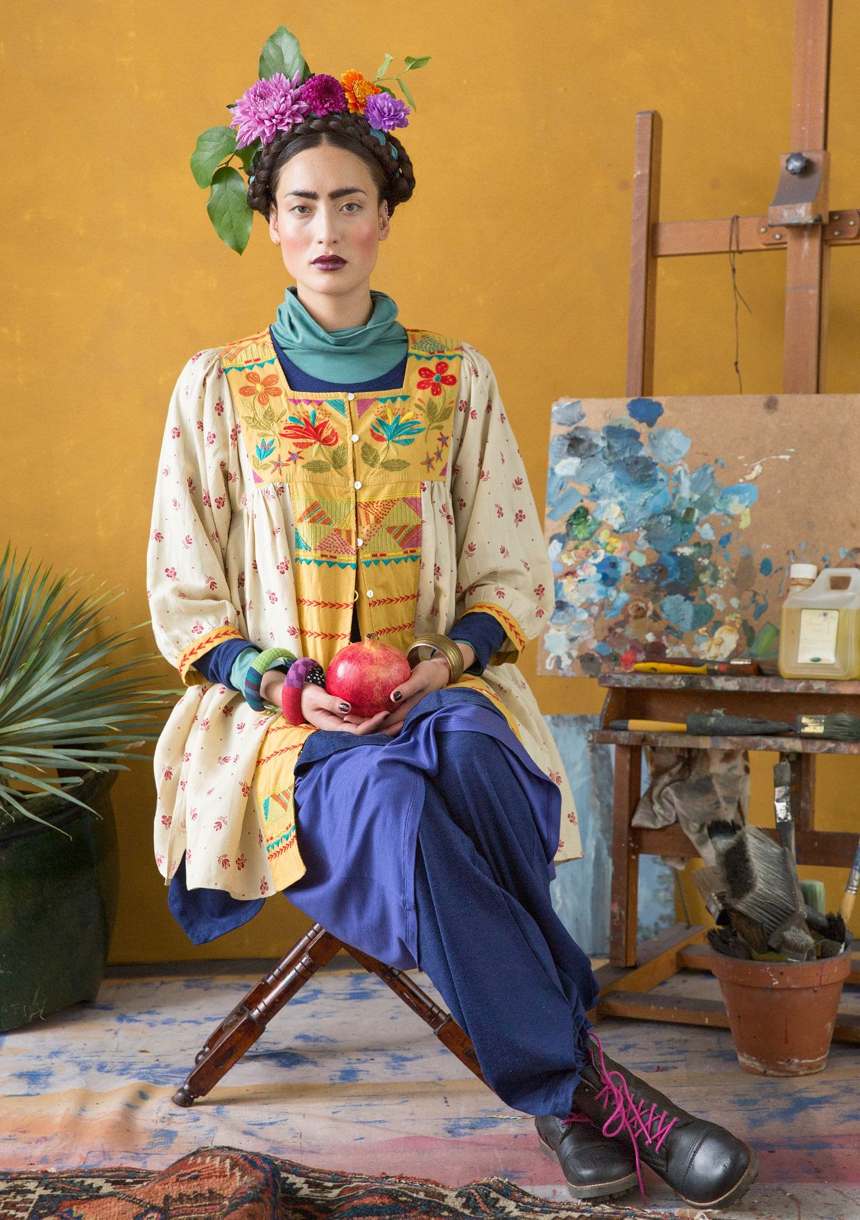 Inspiration Frida Kahlo – GUDRUN SJÖDÉN – Webshop, mail order and boutiques | Colourful clothes and home textiles in natural materials.