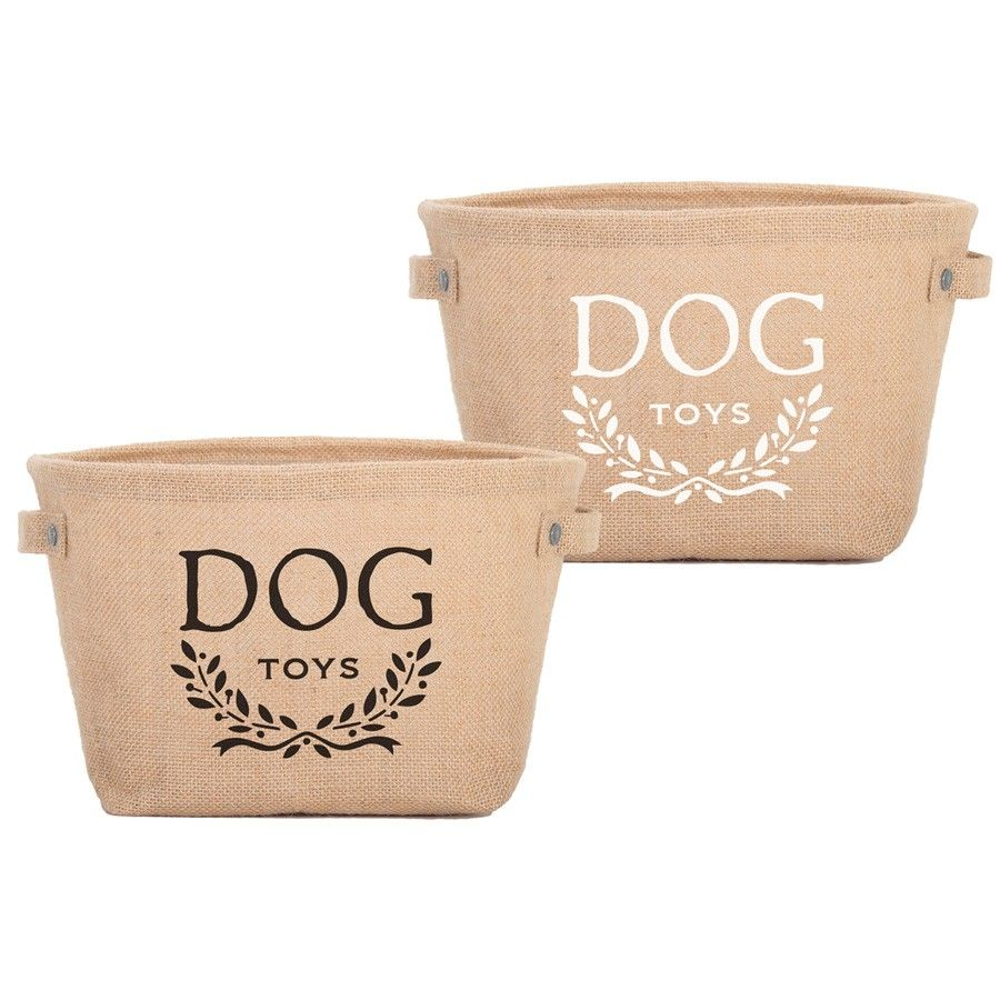 Cute Paw Print Dog Toy Bin Basket Dog Toys Dog Toy In The 80s