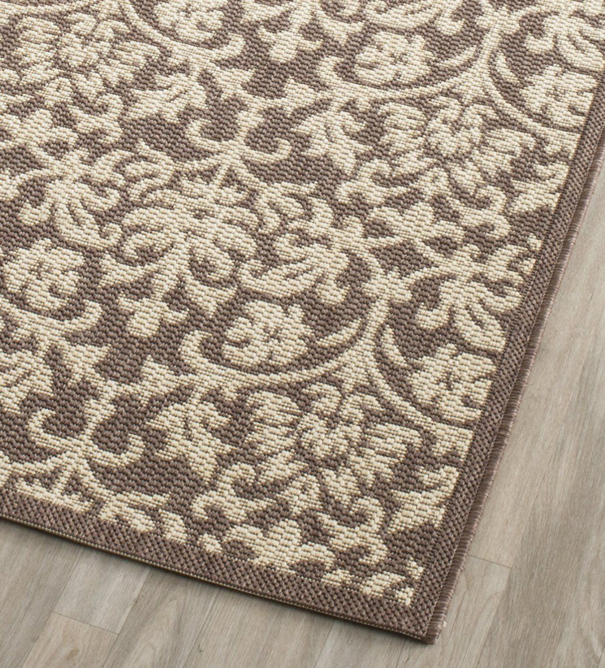 Safavieh Courtyard Collection Cy34163409 Chocolate And Natural Indoor Outdoor Runner 23 X 12 Check Out The Image By Visiting T Indoor Outdoor Indoor Safavieh