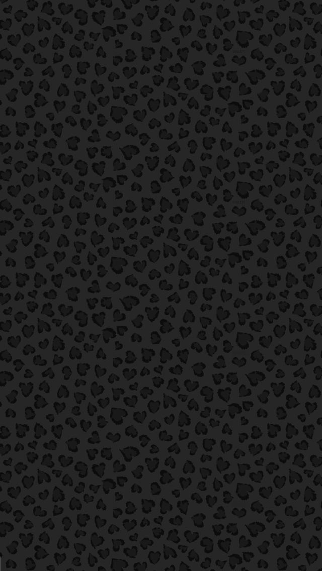Black heart leopard print Animal print wallpaper