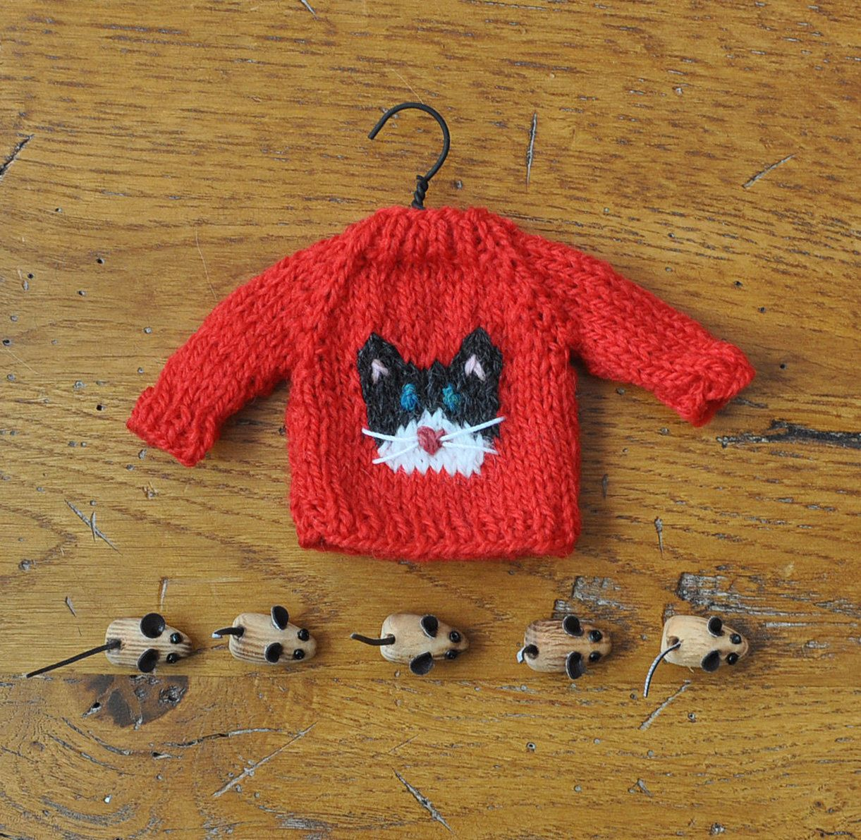Stocking Sweater Hand-Knit Ornament