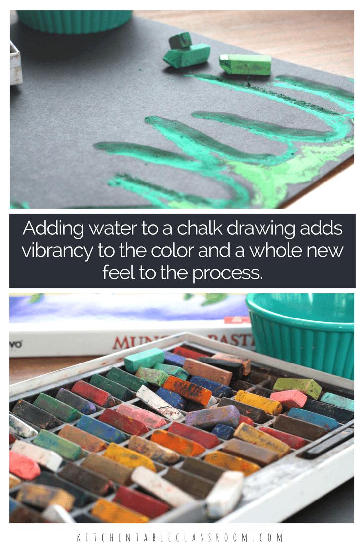 Wet Chalk-A New Drawing Experience | Art | Pinterest | Process art ...