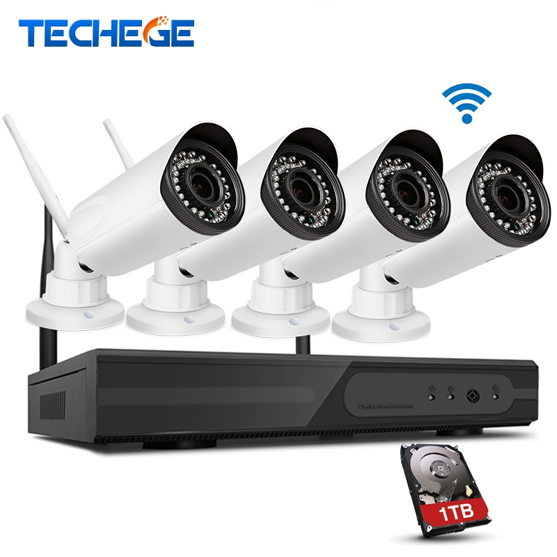 279.95$  Watch now  - Techege 4CH 1080P NVR Security System Zoom 2.8mm-12mm Outdoor Waterproof IP66 Wireless Camera Surveillance System